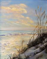 Landscapes  Seascapes - Sea Oats At Dawn - Add New Artwork Medium
