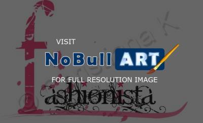 Fashionista on Christiana K S Art Gallery   Fashionista   Illustrator Other   Logo