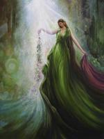 Divine Gardener - Oil On Canvas Paintings - By Freydoon Rassouli, Fusionart Painting Artist