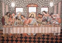 Last Supper - Sand Other - By Murukan Kasturba, Pure Sand Work On New Wood Other Artist
