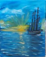 Oil Paintings - Sunset - Oil