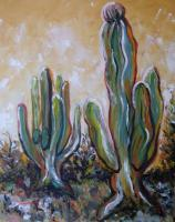 Silvianas Artwork - Cacti In Baja California 1 - Acrylic On Canvas
