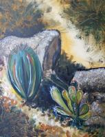 Silvianas Artwork - Cacti In Baja California 2 - Acrylic On Canvas