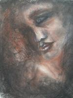 Silvianas Artwork - Dreaming Of Fire - Crayon Charcoal On Paper