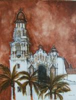 Silvianas Artwork - Spanish Cathedral - Acrylic On Canvas