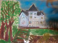 Livermore Now And 10 Years Aft - White House At Concanon Winery 1 - Water Colors Sealed In Glass