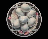 Eggs In The Round - Acrylic On Canvas Paintings - By Jose Luis Quinones, Photorealism Pop Painting Artist