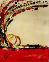 Monotype Prints - Against The Wind - Monotype Print