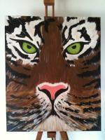 Nature - Tiger Face - Acrylic