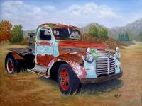 Vehicles - Gmc Truck Of Many Colors - Oil On Canvas