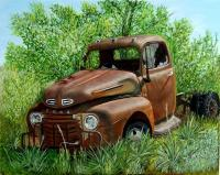 Vehicles - Retired And Rustin - Oil On Canvas
