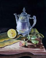 Love Light Lemon - Watercolor Paintings - By Artist Irina Sztukowski, Realism Painting Artist