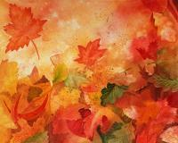 Autumn Dance - Watercolor Paintings - By Artist Irina Sztukowski, Decorative Painting Artist