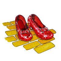 Watercolor Illustrations - Wizard Of Oz-Ruby Slippers - Sold - Watercolor