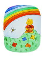 Watercolor Illustrations - Winnie The Pooh And The Rainbow - Watercolor