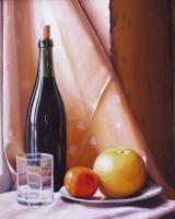 My Paintigs - A Bottle Of San Deni Mandarin And Grapefruit - Oil On Cardboard 400X500 Mm