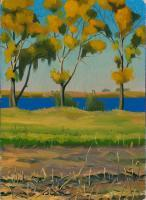 My Paintigs - A Bright Autumn Day - Oil On Cardboard  248 X 338 Mm