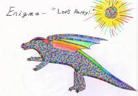 Random Other Art - Enigma The Party Animal - Colored Pencils And Paper
