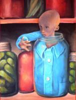 Canned Goods - Acrylic On Canvas Paintings - By Amanda Van Buren, Illustration Painting Artist