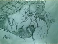 Gone Crying - Add New Artwork Medium Drawings - By Mirza Hammad, Rendumly Drawing Artist