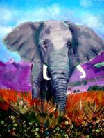 African Elephants - The Abandoned One - Acrylic