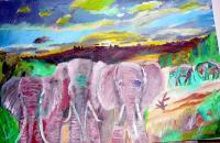 African Elephants - Bros In Unity - Acrylic