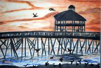 H20 - Sunset Over Folly - Watercolor