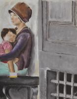 Italy - Mother And Child - Oil
