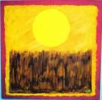 Landscape - Harvest Sun - Acrylic On Gallery Wrapped Can