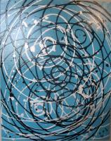 Abstract - Spiraling Thoughts - Acrylic On Gallery Wrapped Can