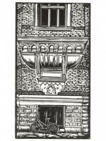 Prints - Building And Bicycle Goteborg - Linocut