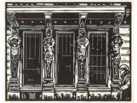 Prints - Shop Front Goteborg - Linocut