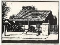 Prints - House On Corner Of Landsdown And Lutman Pe - Linocut