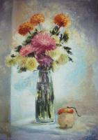 Still-Life - Autumn Flovers - 50X70
