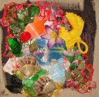Beachcombing - A Credit Crunch - Mixed Media