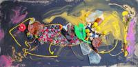 Beachcombing - Fish - Mixed Media