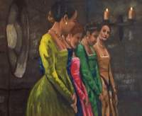 Historical - Ladies In Waiting - Acrylic