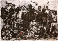 Drawing - The Massacre Of Innocents - Charcoal  Pastel
