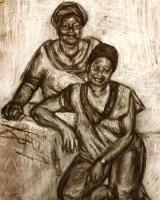 Drawing - Cultural Memory - Charcoal