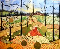 Figural  Landscape - Once  Upon  A  Time - Acrylic