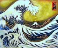 Asian - The Great Wave 3 - Acrylic
