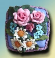 Sculpture - Garden Blooms Vanity Box - Polymer Clay