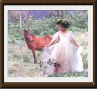 Oil-On-Canvas - The Little Horse And The Fairychild - Oil On Canvas