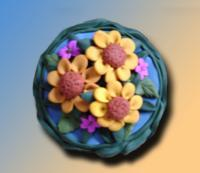 Sculpture - Wild Flowers Vanity Box - Polymer Clay