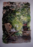 Watercolor - Mary Joys Garden - Watercolor