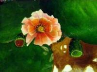 Prickley Beauty - Acrylic Paintings - By Elaine Childers, Realism Painting Artist