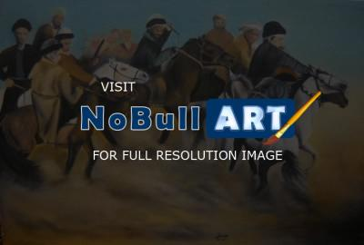 Zpainitngs - Buzkashi - Oil Painting