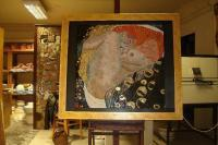 Gustav Klimt - Gustav Klimt - Danae - Glass Mosaic - Glass Wood