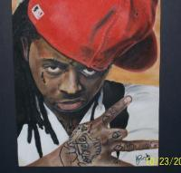Lil Wayne - Pastel And Chalks Drawings - By Janice Park, Portraits Drawing Artist