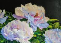 2019 - Exilia S Peonies - Acrylic On Gallery Canvas